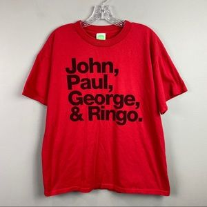 The Beatles 2005 T-shirt Red Large